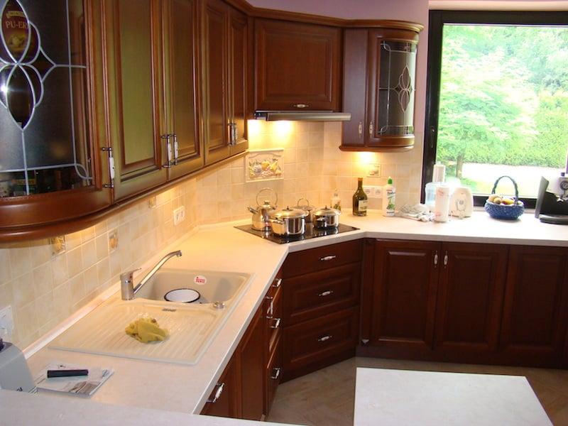 Meble Kuchenne (114) -> Kuchnie Drewniane Klasyczne