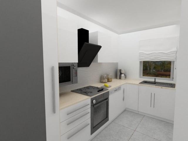 kuchnia biała  Kuchnie, meble kuchenne  Czechowice   -> Kuchnia W Limonce