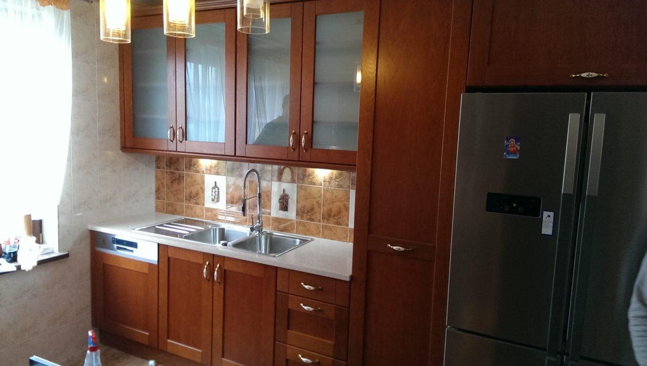 kuchnia stylowa drewniana dębowa (3)  Kuchnie, meble   -> Kuchnie Drewniane Tychy