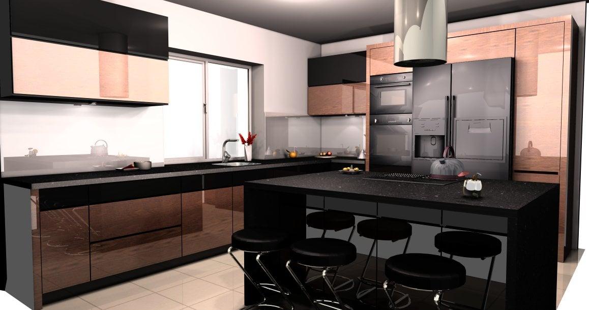 projekt kuchni palisander (2)  Kuchnie, meble kuchenne   -> Projekt Kuchni Duzej