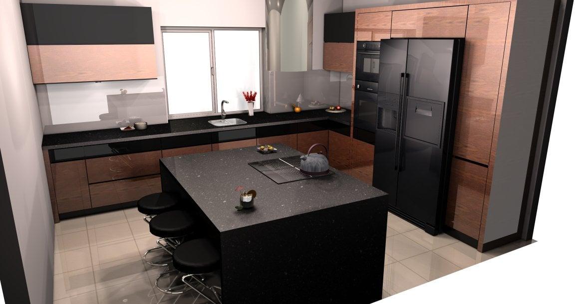 projekt kuchni palisander (3)  Kuchnie, meble kuchenne   -> Projekt Kuchni Duzej
